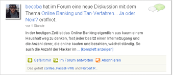 Forum im Feed