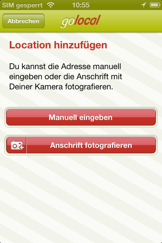 Locations melden