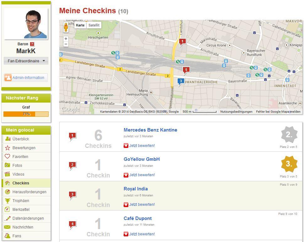 Auf der Deutschlandkarte kannst Du nachsehen, wo Du Deine Spuren hinterlassen hast.