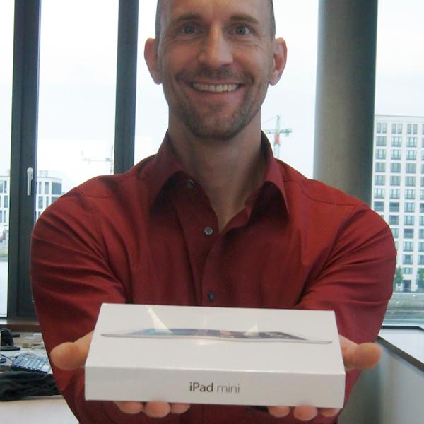 Das iPad mini für den Gewinner der Umfrage